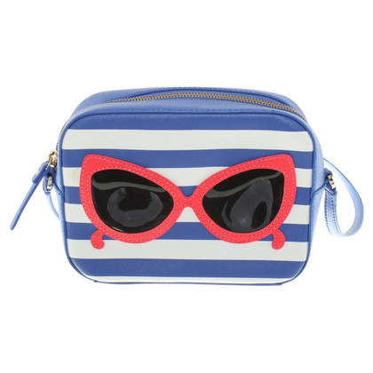 Kate Spade Striped messenger bag with application