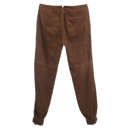 Ralph Lauren Leren broek in bruin