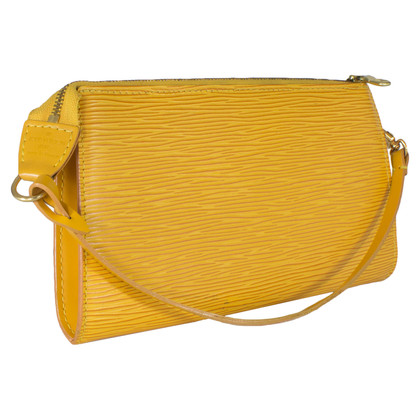 "Louis Vuitton ""Pochette Accessoires Epi"" in Gelb"