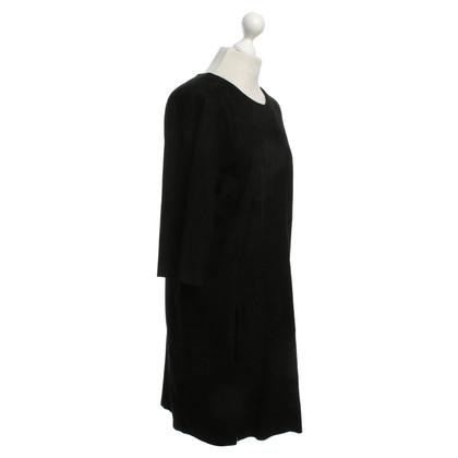 Closed Robe en cuir noir