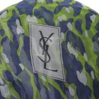 Yves Saint Laurent silk scarf in animal look