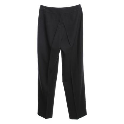 Akris pantaloni stropicciati in nero