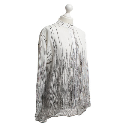 Balenciaga Silk blouse in black / white