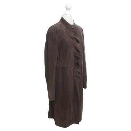 Escada Suede vestito Coat