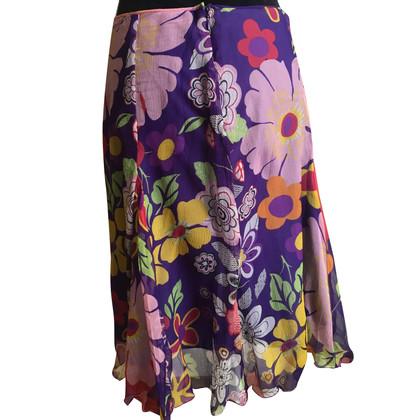 Versace jupe de soie