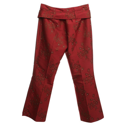 Schumacher Pants with a floral pattern
