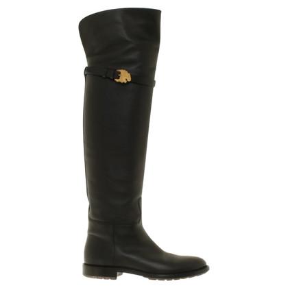 Valentino Knie laarzen in zwart
