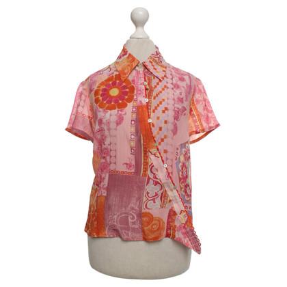Kenzo Zijden blouse met patroon