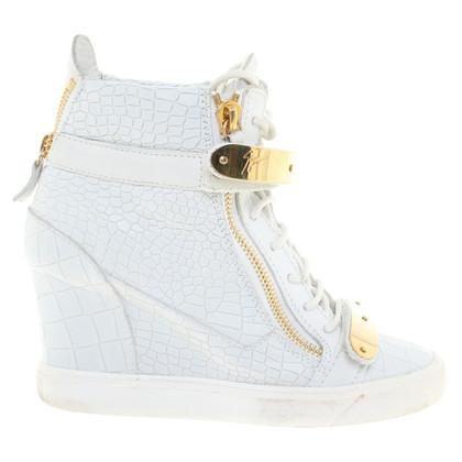 Giuseppe Zanotti Plateau sneakers in wit