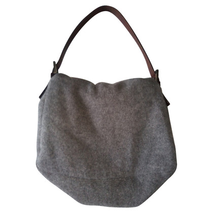 Fendi Fendi Grey Wool Handbag