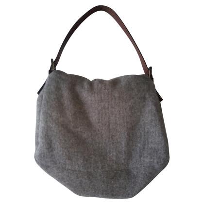 Fendi Fendi Grey Wool Handtas