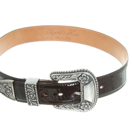 Reptile's House Patent leather belt in Brown