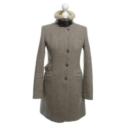 Mabrun Cappotto in lana con spina di pesce