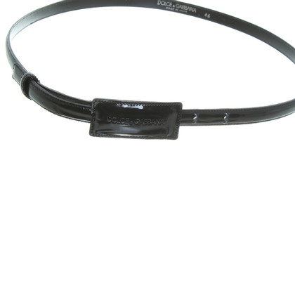 Dolce & Gabbana Belt in black patent leather