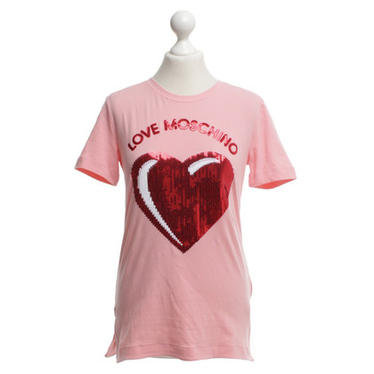 Moschino Love T-shirt in rosa