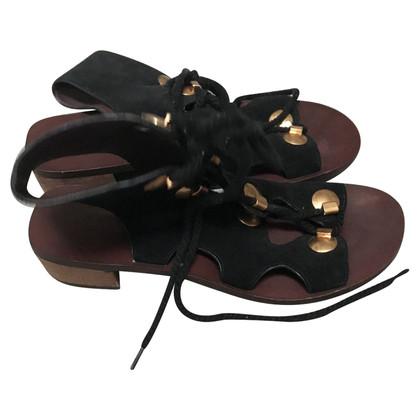 See by Chloé sandales en daim noir