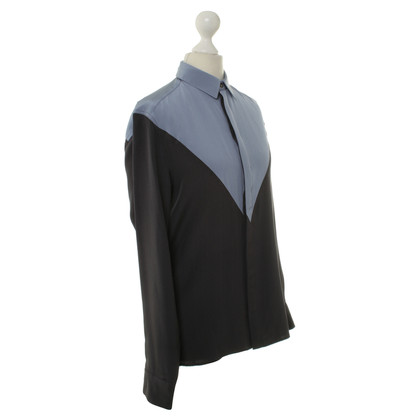 Kenzo Silk blouse in blue/grey