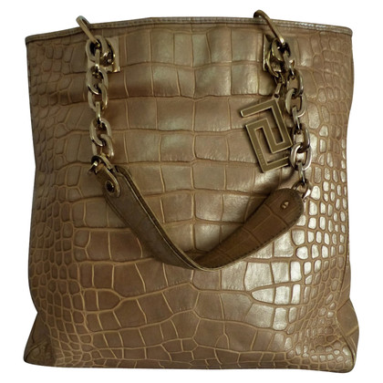 Versace Tote Bag with crocodile embossing