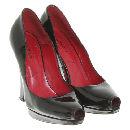 Cesare Paciotti Lackleder-Pumps in Schwarz
