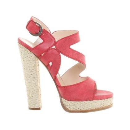 Casadei Platform sandalen in koraal rood