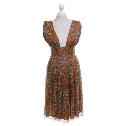 Cacharel Silk dress with floral pattern