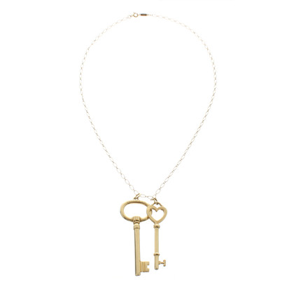 Tiffany & Co. 18-carat gold chain with key ring