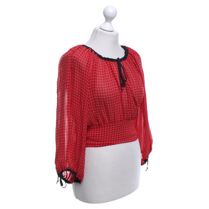 Jean Paul Gaultier blouse wrap Checkered