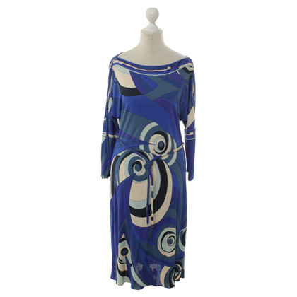 Emilio Pucci Blue pattern dress