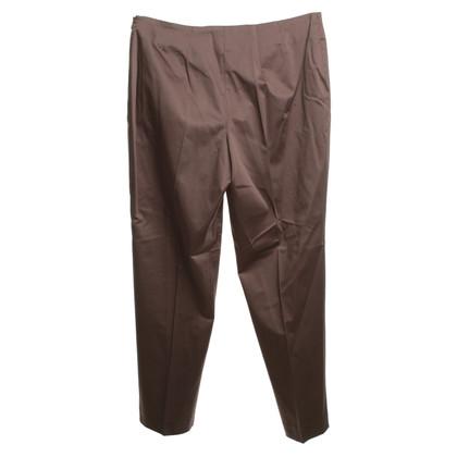 Gunex pantaloni a pieghe in marrone