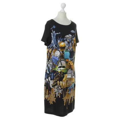 Piu & Piu Printed Jersey dress