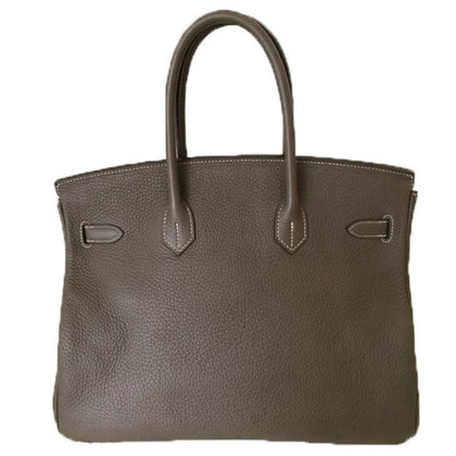 "Hermès ""Birkin Bag 35"" in Etoupe from Clemence leather"