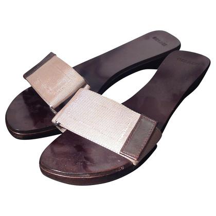 Hermès Brown leather sandals