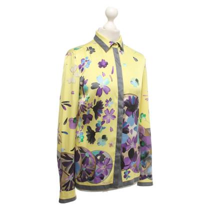 Gianni Versace Camicetta di seta in multicolor