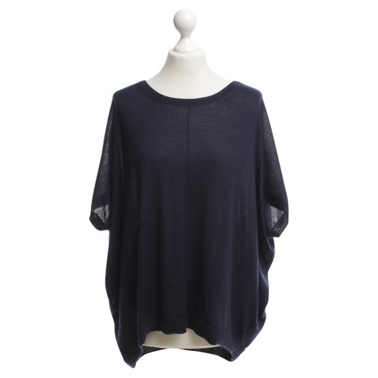 Donna Karan Gebreide trui in donkerblauw