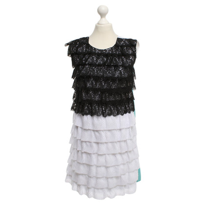 MSGM Dress with lace flounces