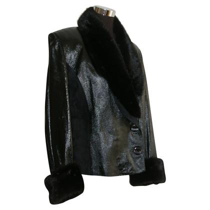 D&G Lederen jas met nerts