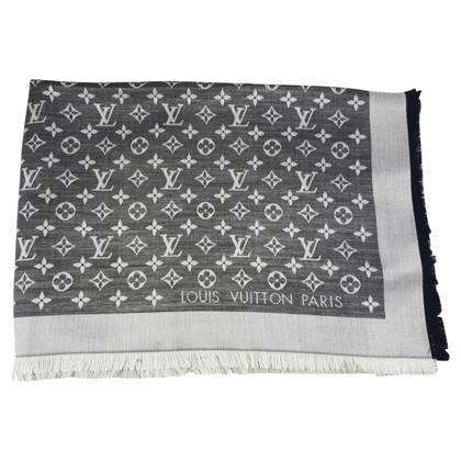 Louis Vuitton Monogram Denim sciarpa in nero