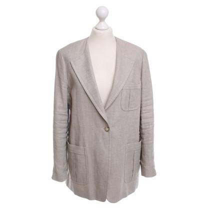 Max Mara giacca di lino beige