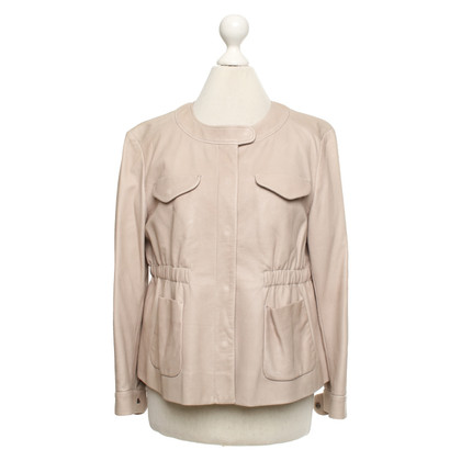 Miu Miu Leather jacket in beige