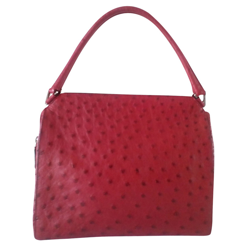 086f3ddf6528 ... free shipping prada handbag made of ostrich leather acbd3 6a027