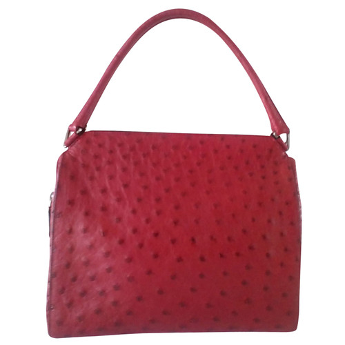 41cb8440036813 Prada Handbag made of ostrich leather - Second Hand Prada Handbag ...