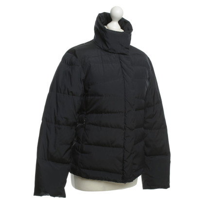 Strenesse Blue Quilted Jacket in dark blue
