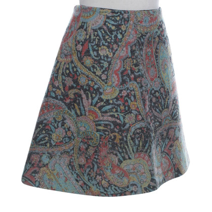 Carven skirt with paisley pattern