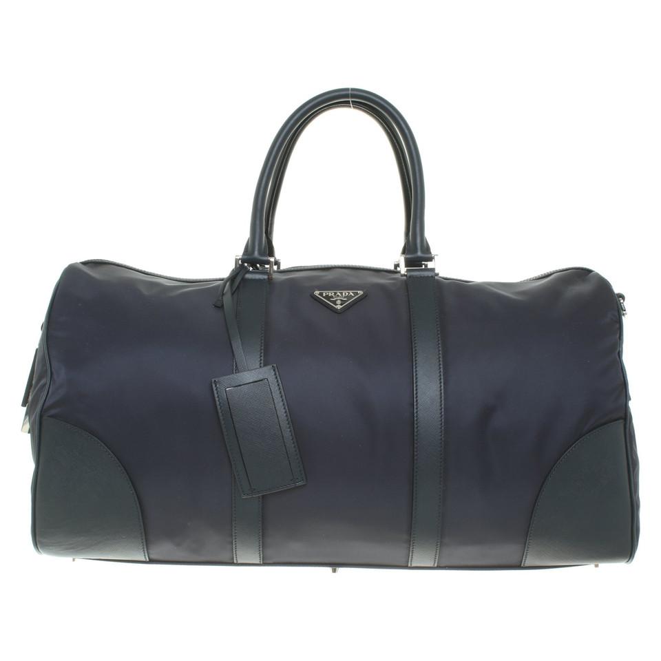 prada sac de voyage en bleu fonc acheter prada sac de. Black Bedroom Furniture Sets. Home Design Ideas