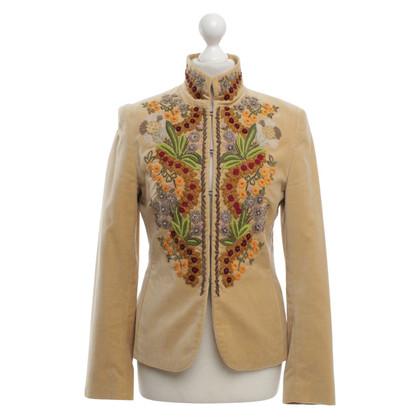 Bogner giacca di velluto beige
