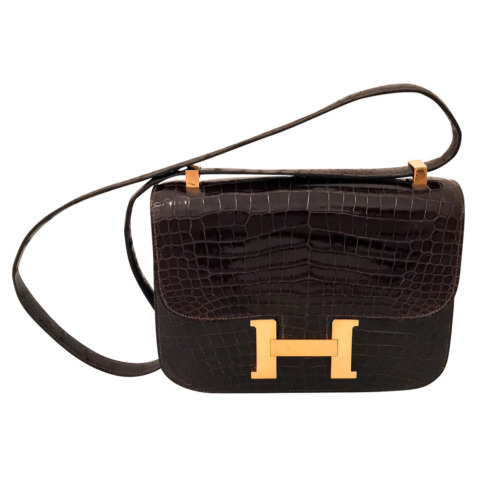 "Hermès ""Constance bag"" made of crocodile leather"