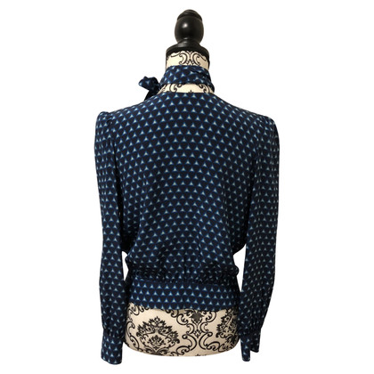 Prada Zijden blouse met patroon