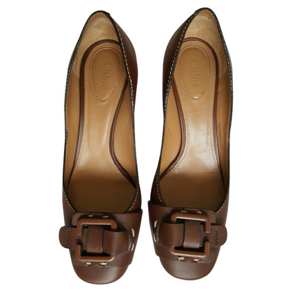 Chloé brown pumps