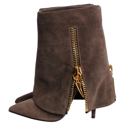 Giuseppe Zanotti  Suede Ankle Boots in grey