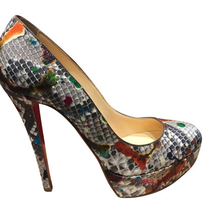Christian Louboutin pumps made of python leather